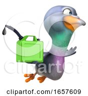 3d Pigeon On A White Background