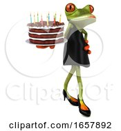3d Female Frog, on a White Background by Julos #COLLC1657892-0108
