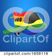 3d Rainbow Flag Plane