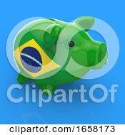 3d Brazilian Flag Piggy Bank