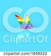 Winged Rainbow Helmet
