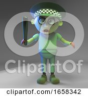 Undead Zombie Monster Policeman With Truncheon
