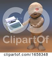 This Is The Typewriter Egyptian Mummy Monster Will Write His Novel On