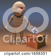 Politically Minded Egyptian Mummy Monster Votes In The Election
