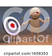 Funny Egyptian Mummy Monster Hits The Bullseye With His Arrows