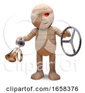 Egyptian Mummy Monster Had An Accident In His Car by Steve Young