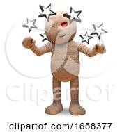 Dizzy Egyptian Mummy Monster Can See Stars by Steve Young