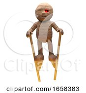 Silly Egyptian Mummy Monster Walks Around On Stilts When Depressed by Steve Young