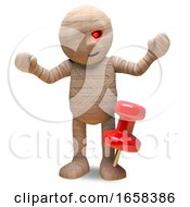Egyptian Mummy Monster Is In Pain Because Of A Tack In His Foot by Steve Young