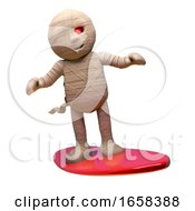 Sports Minded Egyptian Mummy Monster Rides The Waves On His Surfboard by Steve Young