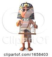Egyptian Pharaoh Tutankhamen Holding An Abacus