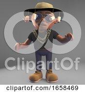 Cool Black Hiphop Rapper Wearing An Australian Bush Tucker Hat
