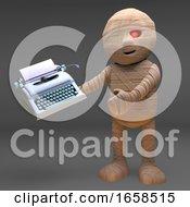 Mummy Monster Has Bought A Typewriter
