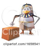 Poster, Art Print Of Democratic Egyptian Penguin Pharaoh Tutankhamun Votes In All The Elections