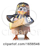 Technical Egyptian Pharaoh Penguin Holds Data On His Usb Thumb Drive by Steve Young