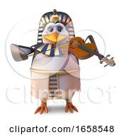 Musical Egyptian Pharaoh Penguin Plays The Violin On Days Off