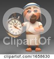 Efficient Jesus Christ Holding A Stopwatch Timer