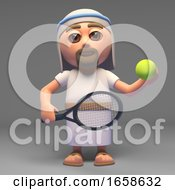 Jesus Christ Is Ready To Serve At Tennis