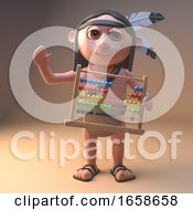 Cool Native American Indian Holding An Abacus