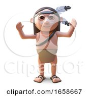 Cool Native American Indian Cheering With Delight by Steve Young