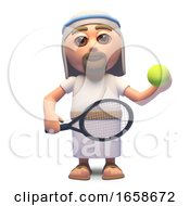 Jesus Christ Son Of God Playing Tennis