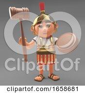 Crafty Roman Centurion Soldier Holding An Auction