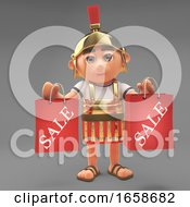 Astute Roman Centurion Soldier Has Been Shopping At The Sales