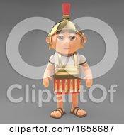 Determined Roman Centurion Soldier Stands Firm