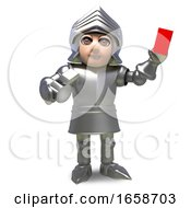 Sport Mad Medieval Knight Hands Out A Red Card And Penalty
