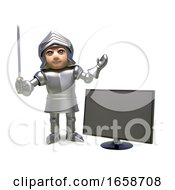 Gadget Mad Medieval Knight In Armour By A TV