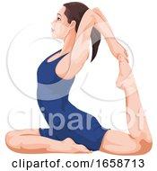 Woman Doing Yoga by Morphart Creations
