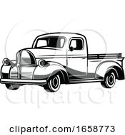 Black And White Pickup Truck