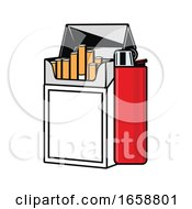 Poster, Art Print Of Cigarettes And Lighter