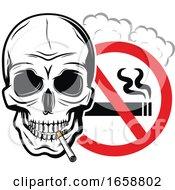 Skull And No Smoking Sign