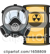Biohazard Barrel And Mask