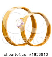 Poster, Art Print Of Wedding Band Rings