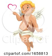 Poster, Art Print Of Cupid Making A Heart