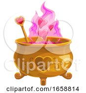 Poster, Art Print Of Love Spell Cooking In A Cauldron