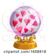 Poster, Art Print Of Crystal Ball With Hearts