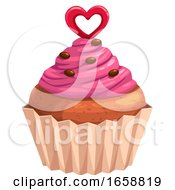 Poster, Art Print Of Valentines Day Cupcake