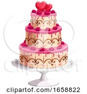 Poster, Art Print Of Wedding Cake With Hearts