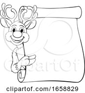 Santas Christmas Reindeer Cartoon Character