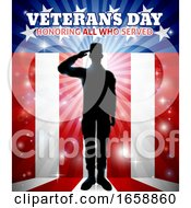 Saluting Soldier Patriotic Veterans Day Design