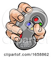 Gamer Hand Holding Video Gaming Game Controller