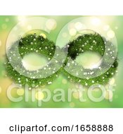 3D Grass And Daisies In The Shape Of An Infinity Symbol On A Bokeh Lights Design