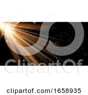 Golden Rays Banner Background