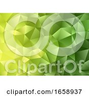 Abstract Background With A Green Low Poly Design