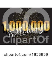 One Million Followers Glittery Celebration Background