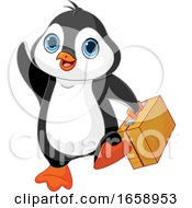 Cute Traveling Penguin Waving