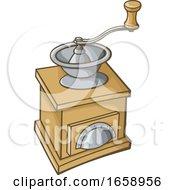Cartoon Vintage Coffee Grinder